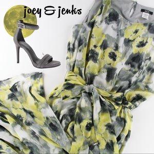 MSK Dresses & Skirts - NWT MSK Yellow and Gray Sleeveless Dress