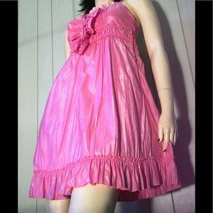 Candy Pink Lolita Ruffle Babydoll Sun Dress YA