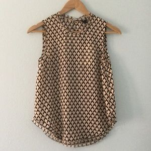 Who What Wear Tops - NWT geometric pattern sleeveless keyhole top