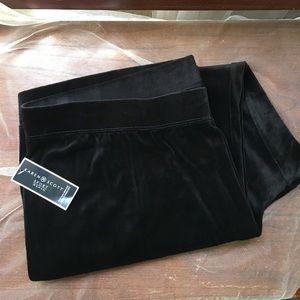 Karen Scott Pants - KAREN SCOTT SPORT WOMAN DEEP BLACK VELVET PANTS