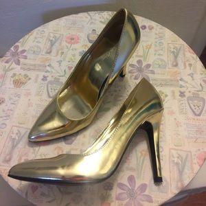 Metallic Gold Charlotte Russe Heels