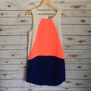 Skies Are Blue Dresses & Skirts - Skies Are Blue Neon Color Block Tank Shift Dress