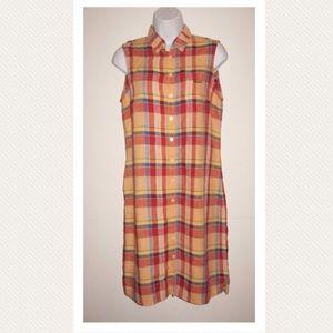 VTG 90s RALPH by Ralph Lauren Linen Shirt Dress M
