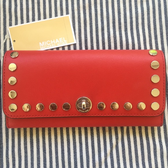 8cfbd89e0a1d Michael Kors Bags | 1 Hr Sale Rivington Stud Wallet | Poshmark