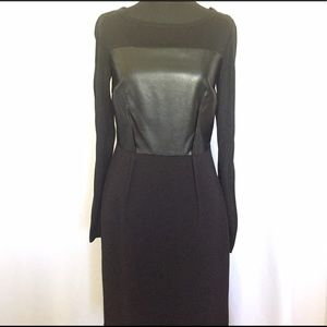 DKNYC Dresses & Skirts - DKNY fitted pencil dress with faux leather