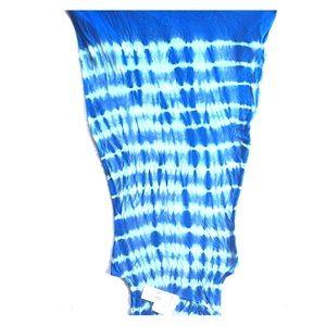 Blue Tie-Dye Dress