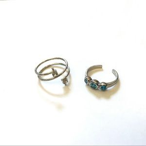 Jewelry - Toe Rings Sterling Silver with Swarovski Crystals