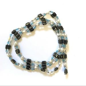Jewelry - Freshwater Pearls and Hematite Necklace strands