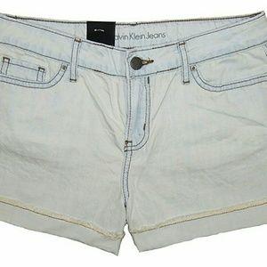 Nwt - Calvin Klein blue mist jean shorts