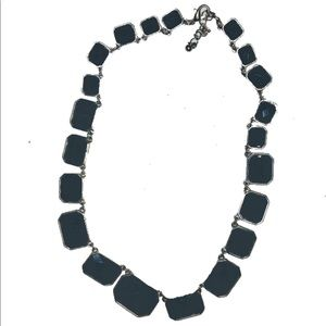 Jewelry - Necklace silver with black stones