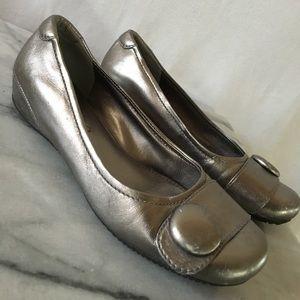 Ecco Shoes - Ecco silver ballet flats