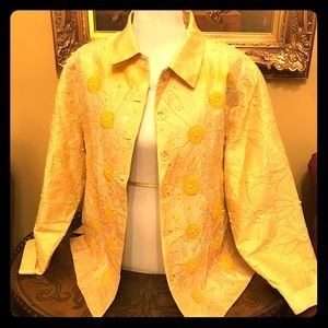 Anage Tops - ANAGE Yellow 2x silk jacket