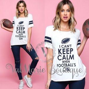 ValMarie Boutique LLC Tops - Football Shirt