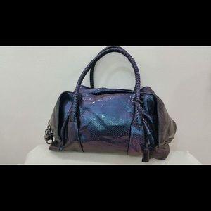 Salvatore Ferragamo Handbags - Salvatore Ferragamo Purple snake skin bag