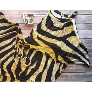 "Chico's Dresses & Skirts - Chico's Stretch Golden Zebra Print"" Maxi dress"