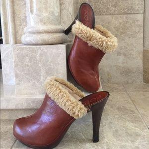 KORS Michael Kors Shoes - Size 8 Michael Kors  brown leather mules /pumps