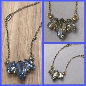 Sorrelli Jewelry - Sorrelli Blue Trifecta Crystal Necklace, NWT