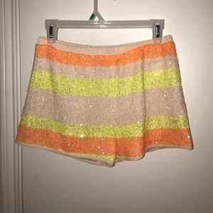 Aryn K Pants - Aryn K. Sequined shorts