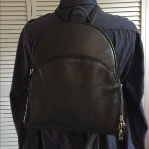 Aurielle Handbags - Aurielle Black Leather Backpack