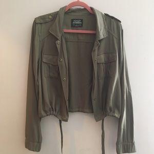 Ashley By 26 International Jackets & Blazers - Cropped Olive Military Jacket