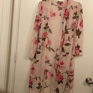 Freshman Sweaters - Floral cardigan