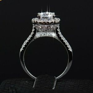 Jewelry - New White Diamonique Wedding Ring Size 6