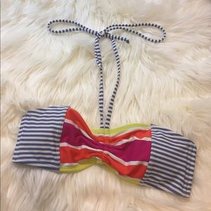 cute roxy striped bikini top size M