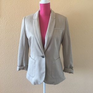 H&M Jackets & Blazers - H&M Gold One-Button Soft Blazer