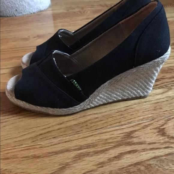 69 dawgs shoes black canvas espadrille wedge sandal