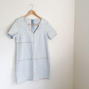 1. State Dresses & Skirts - 1.State Denim Distressed Shift Dress