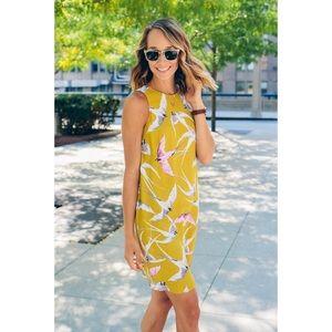 Ann Taylor Dresses & Skirts - Ann Taylor Mojave shift dress in yellow bird print
