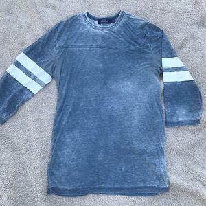 Topman Other - Topman Burnout Striped Sleeve Tee