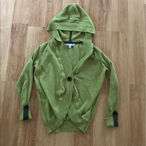 Cabi Green Hooded Quarter Sleeve Cardigan Size XS