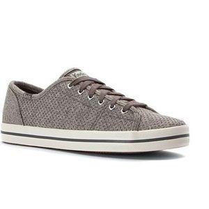 Keds Kickstart Glitter Grey Wool Sneakers