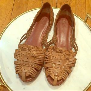 Mia Shoes - MIA FLAT RARE SLINGBACK Tan SLIPON WOVEN 8.5