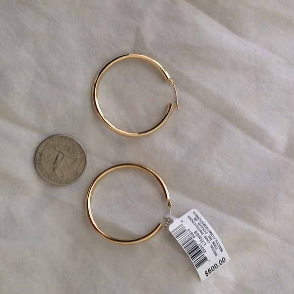 6b3c4cbf44a5 SALE - Macy s Fine Jewelry 14k Gold Hoop Earrings