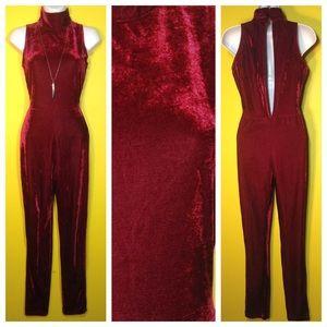 Sold!! Velvet Jumpsuit, Size Small