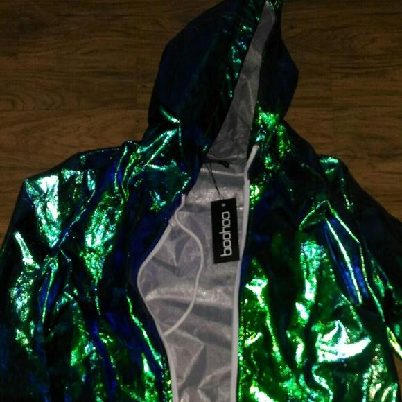 ae3abb58a0e4f Jackets   Blazers - Holographic Raincoat