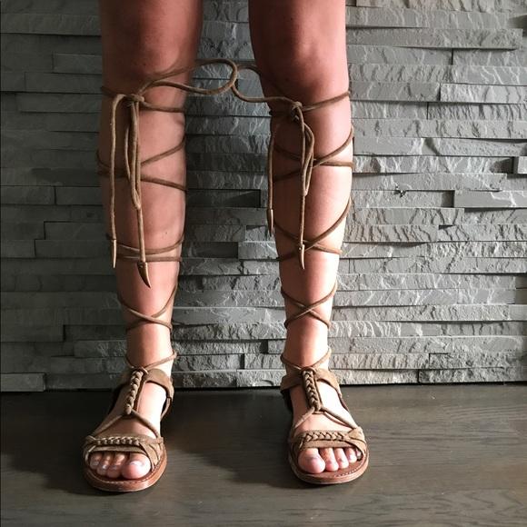 4cb71ad67a1 Ash Shoes - Ash Peace Suede Gladiator Sandal