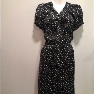 Max Studio Dresses & Skirts - Vintage inspired black and white polka dot dress-L
