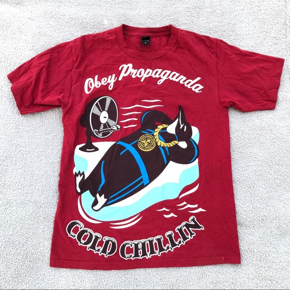 Obey Propaganda Cold Chillin Tee Shirt
