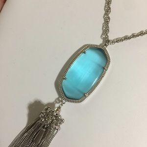 Kendra Scott Jewelry - Light Blue Cats Eye Kendra Scott Rayne Necklace
