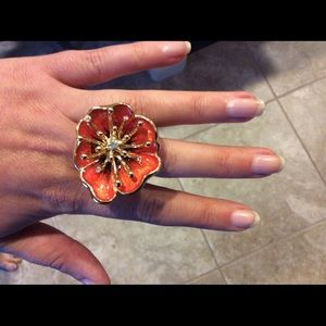 Jewelry - Costume jewelry orange flower ring
