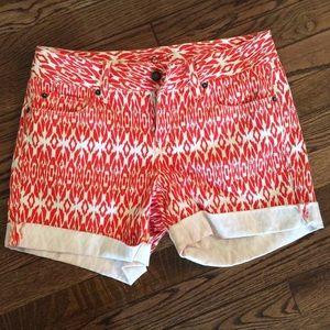Orange Pattern Loft Shorts