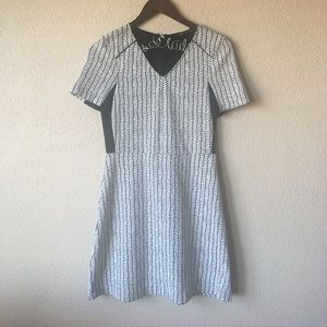 Zara Dresses & Skirts - Zara Basic Black & White Chevron Dress
