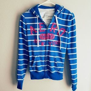 Tops - 🌞5 for 25!🌞 Aeropostale blue white stripe hooded