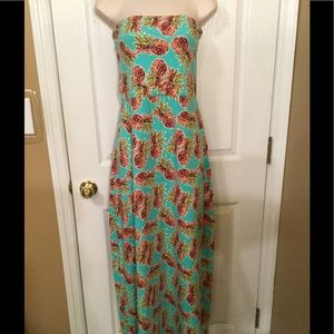 All For Color Dresses & Skirts - All for Color XL Pineapple Maxi New