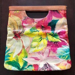Maurizio Tahiti Painted Floral Clutch
