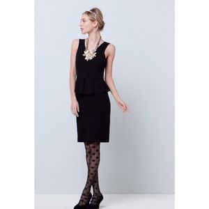 Anthropologie Dresses & Skirts - Anthropologie Ganni Black Peplum Eleanor Dress