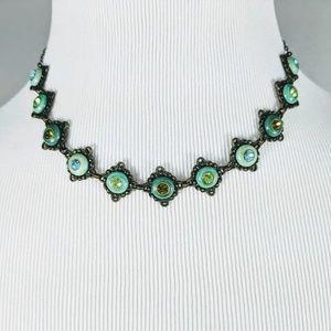 Beautiful Green-Blue Choker Neclace